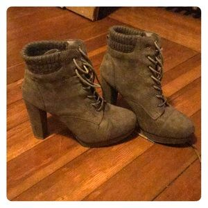 Suede Charlotte Russe High Heeled Boots